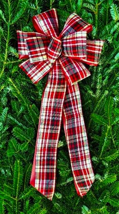 BCP10 - Red Satin Green Edge Plaid Over Poly