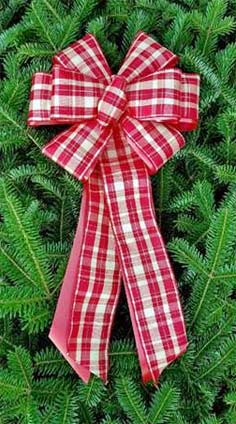 Gingham Plaid with Gold Thread over Red Poly