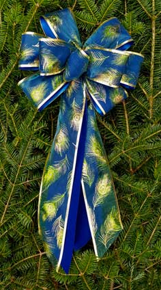 c38 blue velvetblue sheer green gold peacock feathers overlay - Royal Blue And Gold Christmas Decorations