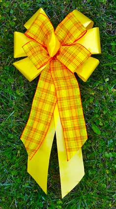 Yellow Poly with Yellow Plaid Combow