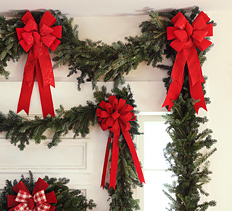 standard garland and estate garland with bows