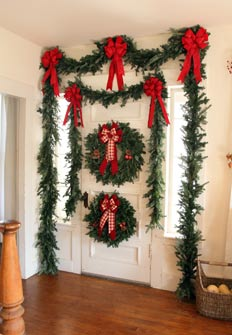 Standard and larger Estate Garland size comparison on standard door